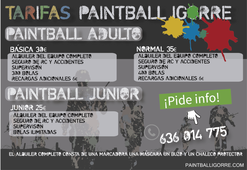 TARIFAS PAINTBALL IGORRE